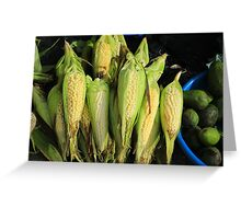 Corn and Avocados Greeting Card