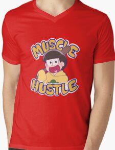 HUSTLE HUSTLE MUSCLE MUSCLE Mens V-Neck T-Shirt