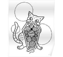 Kitty's Yarn Stash: Memento Mori Poster