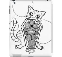 Kitty's Yarn Stash: Memento Mori iPad Case/Skin