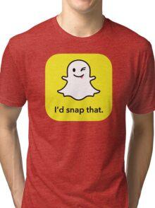 "I'd ""snap"" that.  Tri-blend T-Shirt"