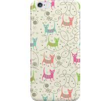 Cute Cartoon Style, Cats  Pattern iPhone Case/Skin
