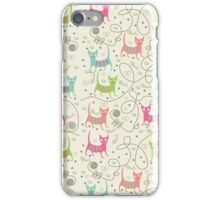 Cute Cartoon Style, Cats  Pattern iPhone Case/Skin