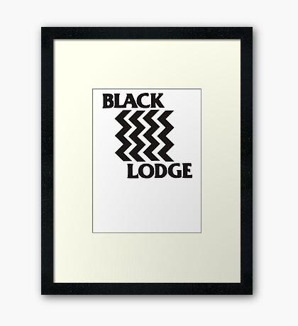 Twin Peaks Black Lodge Black Flag Parody Framed Print