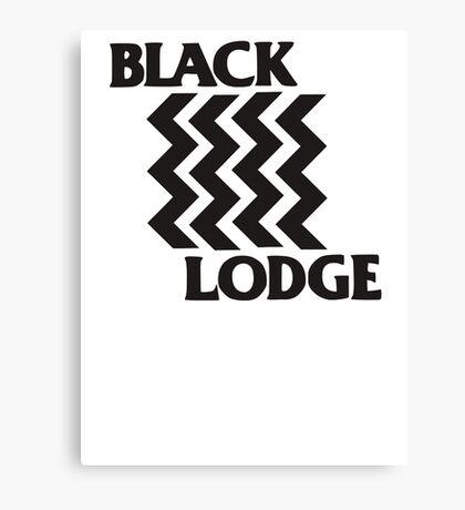 Twin Peaks Black Lodge Black Flag Parody Canvas Print