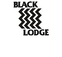 Twin Peaks Black Lodge Black Flag Parody Photographic Print