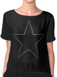 Black Star Chiffon Top