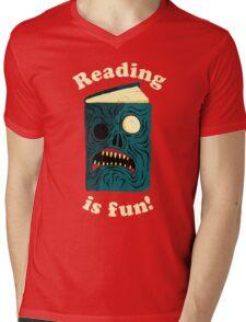 Reading is Fun Mens V-Neck T-Shirt