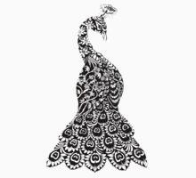 Decorative Peacock by Julia Fonnereau