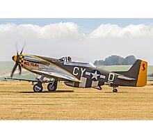 """TF-51D Mustang N251RJ 44-84847 CY-Ḏ """"Miss Velma"""" Photographic Print"""