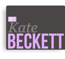 Detective Kate Beckett Canvas Print