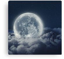 The Girl And The Moon  Canvas Print