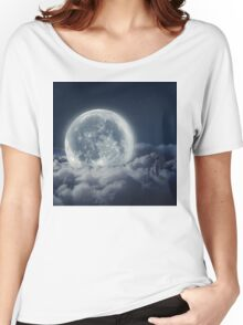 The Girl And The Moon  Women's Relaxed Fit T-Shirt