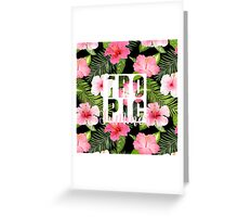 Tropical Paradise Design with Flowers Greeting Card