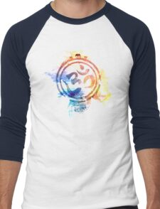 colorful ohm elephant logo Men's Baseball ¾ T-Shirt
