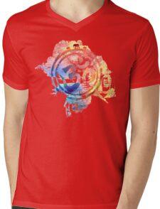 colorful ohm elephant logo Mens V-Neck T-Shirt