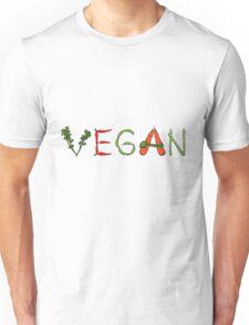 Vegan vegetables drawing color Unisex T-Shirt