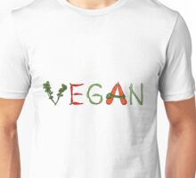 Vegan vegetables drawing color Unisex T-Shirt