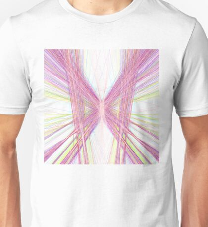 Linify Pink butterfly Unisex T-Shirt