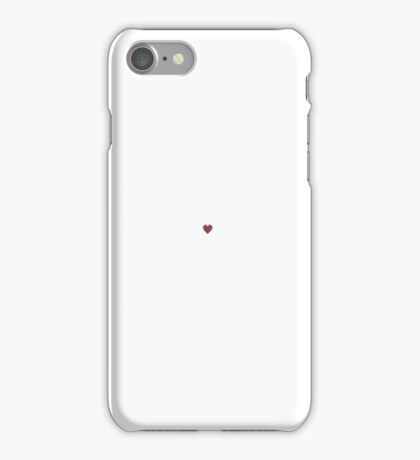 the tiniest of hearts iPhone Case/Skin