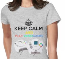 Keep Calm and play video games Womens Fitted T-Shirt