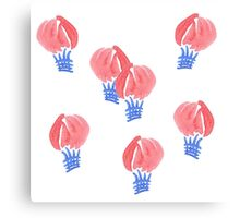 Air balloons in watercolors Canvas Print