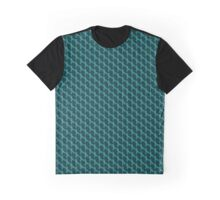 Teal Ribbon Tiled Pattern Graphic T-Shirt