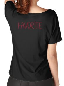 Red mosaic lettering FAVORITE Women's Relaxed Fit T-Shirt