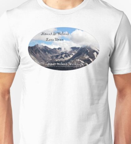 Mount St Helens lava dome 2 oval Unisex T-Shirt