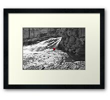 A Red Ball Going Nowhere Framed Print