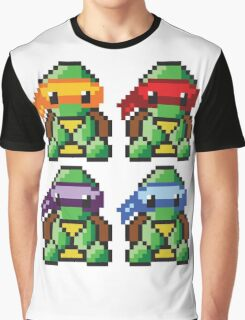 Teenage Mutant Ninja Turtles Pixel Art Graphic T-Shirt