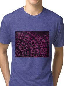 Scallop in Pink and Black Tri-blend T-Shirt