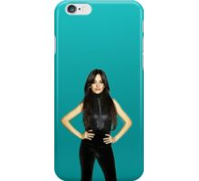 Camila Cabello (teal background #2) iPhone Case/Skin