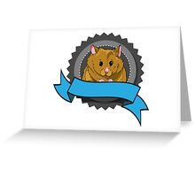 Hamster with banner Greeting Card