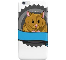 Hamster with banner iPhone Case/Skin