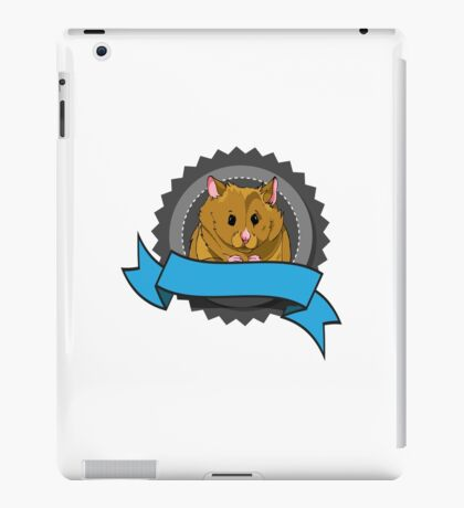 Hamster with banner iPad Case/Skin