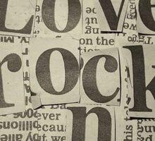 I Love Rock n Roll Sticker