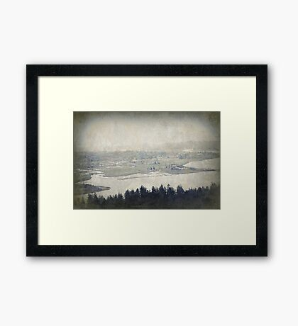 view from the Astoria Column Youngs Bay Framed Print