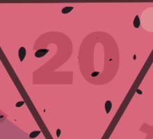 Fruit Dice, D20 watermelon variant Sticker