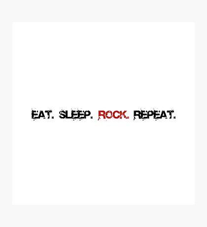 Rock Repeat Photographic Print