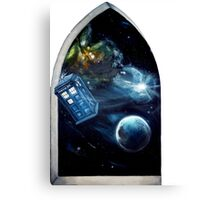 Whovian window :)  Canvas Print
