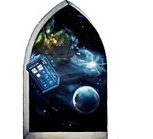Whovian window :)  Photographic Print
