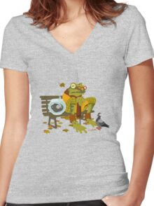 Day Out with Grandpa Women's Fitted V-Neck T-Shirt