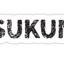 Yakitori Chicken Meatballs (tskune) Japanese English - Black Sticker