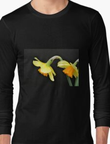 Pair of Daffodils in Profile Long Sleeve T-Shirt