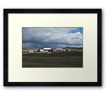 Storm Farmland Framed Print