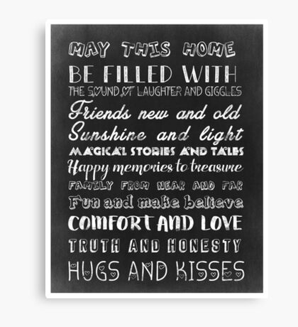 May this home <3 Canvas Print