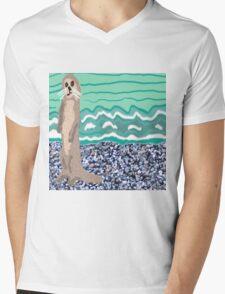 Lovely Little Sea Otter On The Beach Mens V-Neck T-Shirt