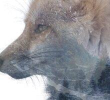 Double Exposure Fox Sticker