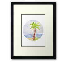 Palm Tree Watercolor Framed Print